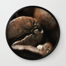 Coffee beans macro photo, fine art, still life, interior decoration, for bar & restaurant, Pub sign Wall Clock