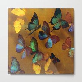 Exotic Butterflies In Exquisite Ballet Metal Print