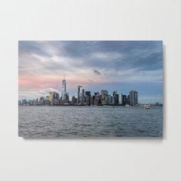 Skyline  of New York City at sunset Metal Print