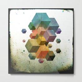 Fly Cube N2.1 Metal Print