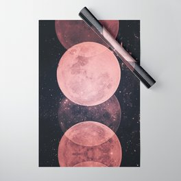 Pink Moon Phases Wrapping Paper