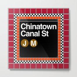 subway chinatown sign Metal Print