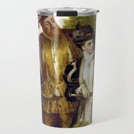 Tudor Romance - Henry VIII and Anne Boleyn hunting Travel Mug