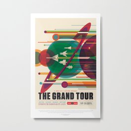 NASA Visions of the Future - The Grand Tour, a Once in a Lifetime Getaway Metal Print