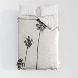 Black + White Palms Comforters