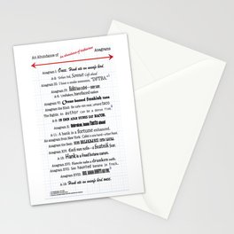 An Abundance of An Abundance of Katherines Anagrams -- John Green Stationery Cards