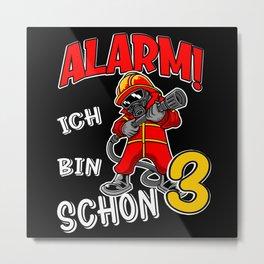 3. Kindergeburtstag Feuerwehr Kinder Metal Print