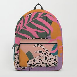 Jungle Grid and color blobs Backpack