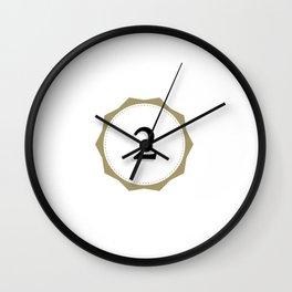 Vintage Number 2 Monogram Wall Clock