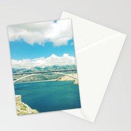 Beautiful Seascape, Croatia, Adriatic Sea  Stationery Cards