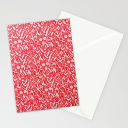 NSFW Red Kinky S&M Pattern Stationery Cards