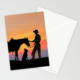 The Cowboy and his Companions Stationery Cards