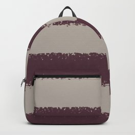 Deep Purple Taupe Gray Thick 4 Stripe Pattern 2021 Color of the Year Epoch and Fondue Backpack