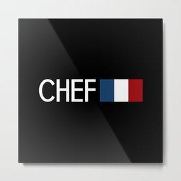 Chef (French Flag) Metal Print