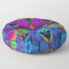 Floral Fractal Art G308 Floor Pillow