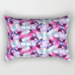 Rainbow Down Abstract Watercolor Painting Rectangular Pillow