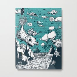 Under Water Wonderland Metal Print