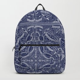 Doodles & Bits Lacy Blue Bandana Backpack