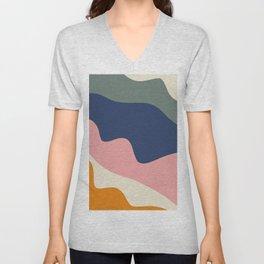 millennial color block Unisex V-Neck
