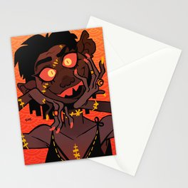 Golden Stitches Stationery Cards