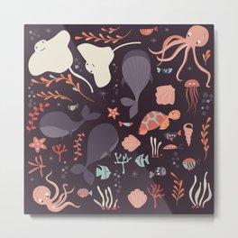 Sea creatures 002 Metal Print