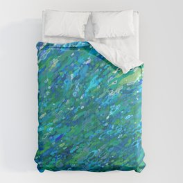 Shades Of Blue Waterfall Comforters