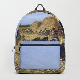 Husking Bee, Island Of Nantucket - Eastman Johnson Backpack