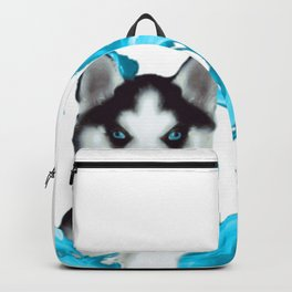 Husky puppy with heart Backpack