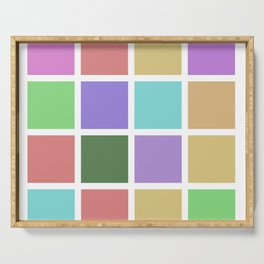 color squares. 2019a Serving Tray