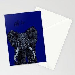 Oli the Elephant- Navy Stationery Cards