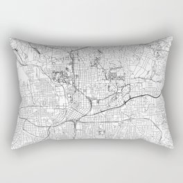 Atlanta White Map Rectangular Pillow