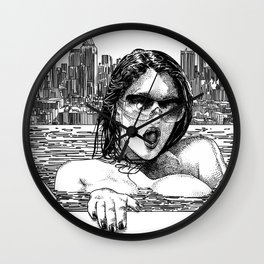asc 382 - Le réconfort (Alone on the rooftop) Wall Clock