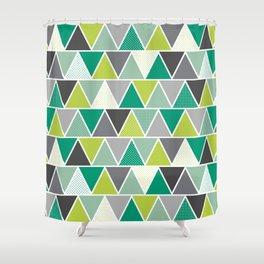 Triangulum - Emerald Shower Curtain