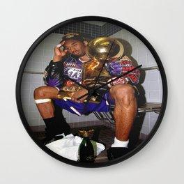 K.B , Kobe#Bryant Celebration with Trophies in Bathroom Canvas Wall Art -Mamba Poster Wall Clock