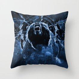 CHIEF CHARGING BEAR Throw Pillow