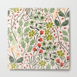 Flowery Metal Print