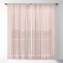 Minimal Line Curvature X Sheer Curtain