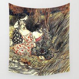 The Flowery Naiades By Arthur Rackham Wall Tapestry