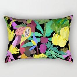 Tropical Fruit Bats in Night Black Rectangular Pillow