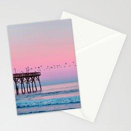 Beach Birds Sunset  Stationery Cards