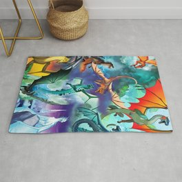 Wings-Of-Fire all dragon Rug