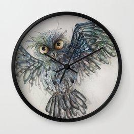 Approaching to you_Owl 5 Wall Clock