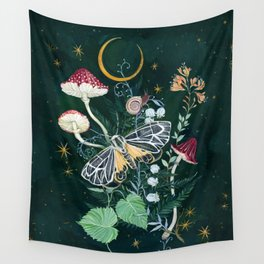 Mushroom night moth Wall Tapestry
