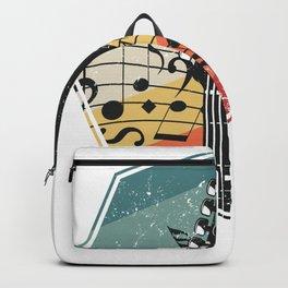 Bass Guitar Retro Backpack