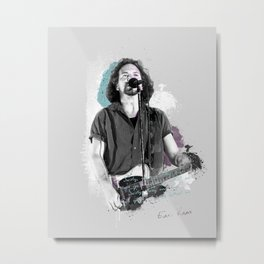 Vedder, Ed poster, band print, Eddie print, musician poster, portrait, music legends, gift Metal Print