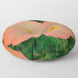 Tangerine Flowers | Nadia Bonello  Floor Pillow
