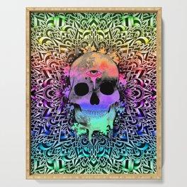 Doodle PsySkull Serving Tray