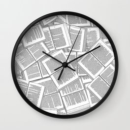 Literary Overload Wall Clock