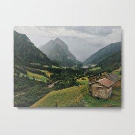 Rainy Swiss Alps Metal Print