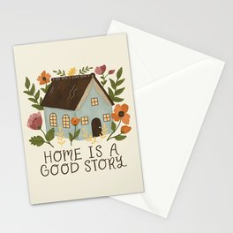Home is a Good Story Stationery Cards